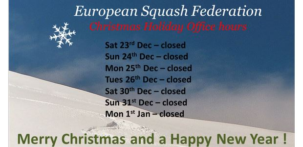 European Squash Federation Christmas Office Opening