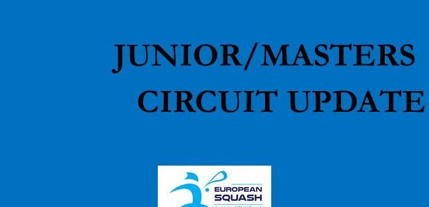 Juniors and Masters circuit update - August update